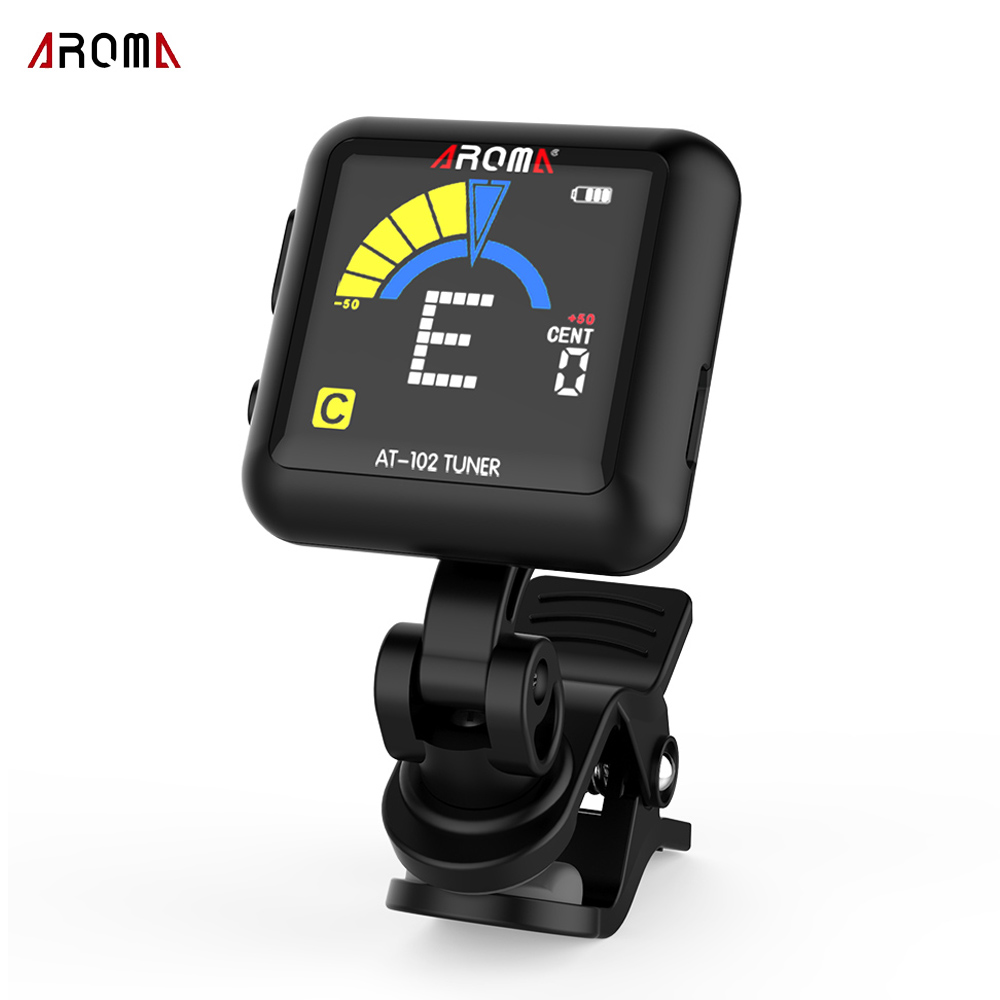 aroma at102 rechargeable clip on tuner muzikone. Black Bedroom Furniture Sets. Home Design Ideas